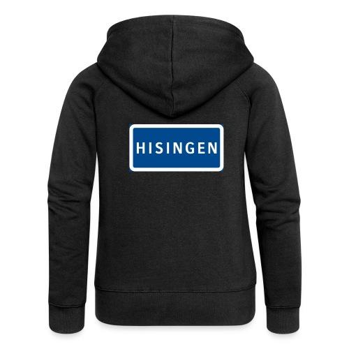 Vägskylt Hisingen - Premium luvjacka dam