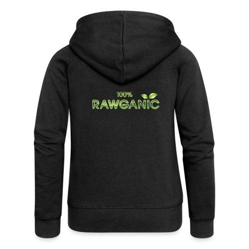 100% Rawganic Rohkost Blättchen - Frauen Premium Kapuzenjacke