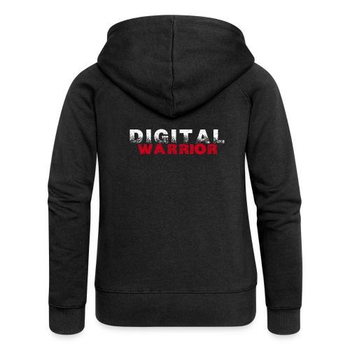 DIGITAl WARRIOR II - Rozpinana bluza damska z kapturem Premium