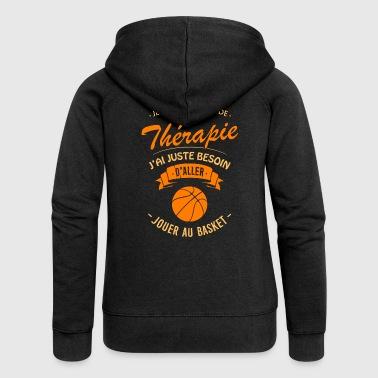 T-shirt Thérapie Basket - Veste à capuche Premium Femme