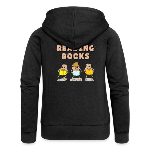 Reading Rocks Funny Book Lovers - Women's Premium Hooded Jacket