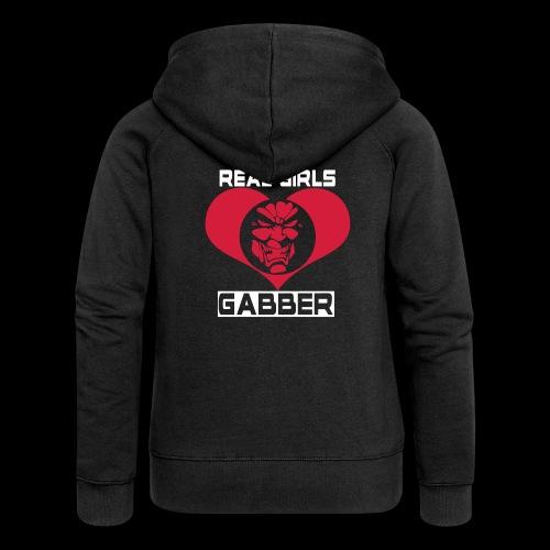 Real Girls Love Gabber Hoodies & Sweatshirts - Women's Premium Hooded Jacket