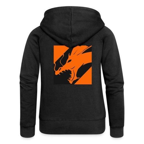 Dragon Orange - Vrouwenjack met capuchon Premium