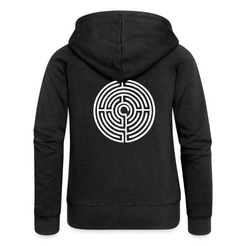 Labyrinth Schutzsymbol Lebensweg Magie Mystik - Frauen Premium Kapuzenjacke