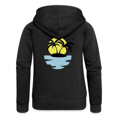 Island, Sun and Sea - Women's Premium Hooded Jacket