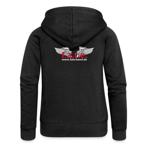 fate logo spreadshirt 2 - Frauen Premium Kapuzenjacke