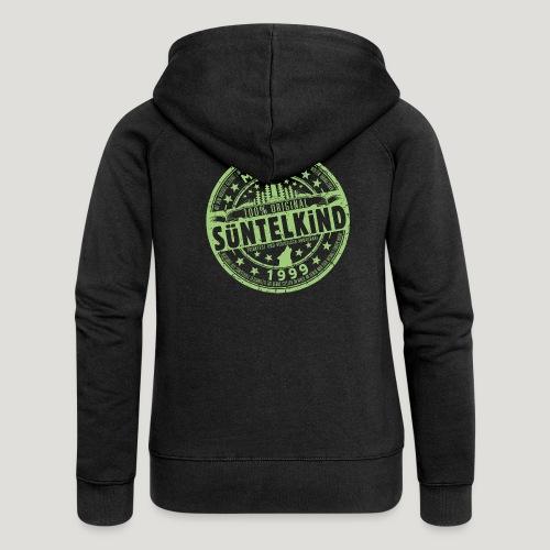 SÜNTELKIND 1999 - Das Süntel Shirt mit Süntelturm - Frauen Premium Kapuzenjacke