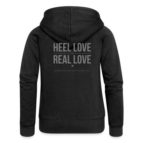 Heel Love is Real Love <3 - GREY - Frauen Premium Kapuzenjacke