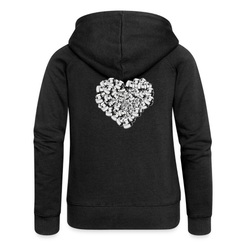 heart for art street love - Dame Premium hættejakke