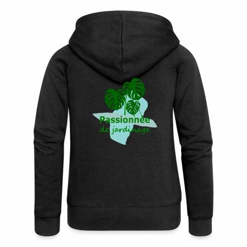 Passionnée de jardinage - Women's Premium Hooded Jacket