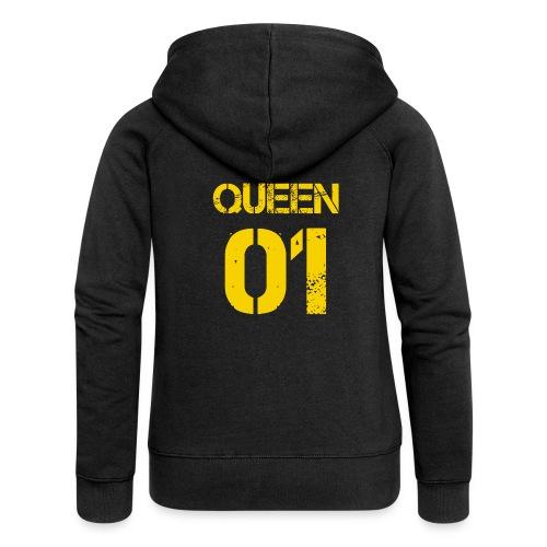 Queen - Rozpinana bluza damska z kapturem Premium