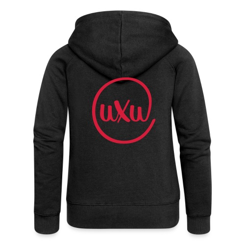 UXU logo round - Women's Premium Hooded Jacket