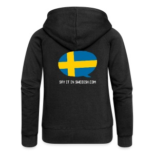 Say It In Swedish - Women's Premium Hooded Jacket