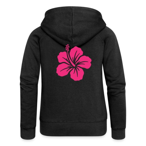Camisetas, blusas, forros celulares de flor rosada - Chaqueta con capucha premium mujer