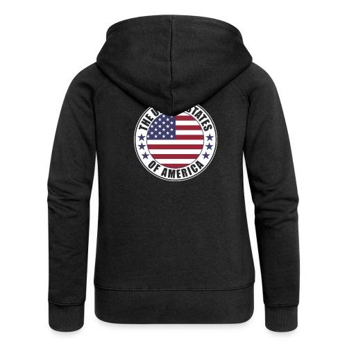The United States of America - USA flag emblem - Women's Premium Hooded Jacket