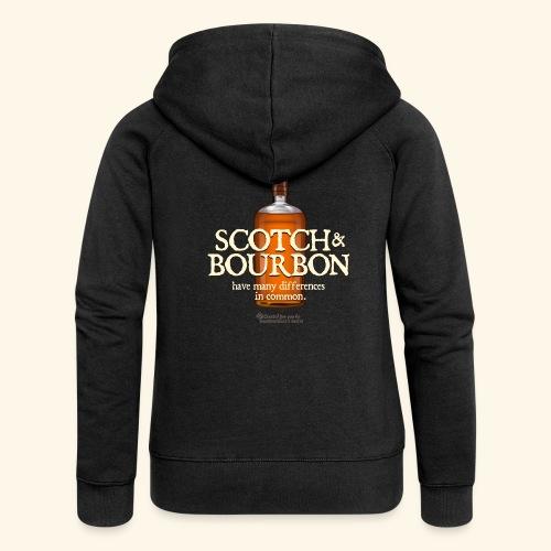Whisky Spruch Scotch & Bourbon - Frauen Premium Kapuzenjacke