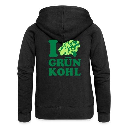 t-shirt bedrucken mit motiv i love grünkohl - - Frauen Premium Kapuzenjacke