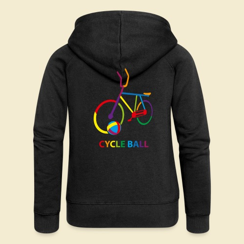 Radball   Cycle Ball Rainbow - Frauen Premium Kapuzenjacke