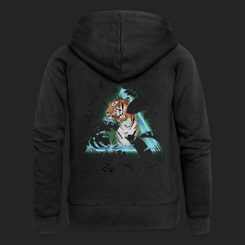 Tigre en soirée - Veste à capuche Premium Femme