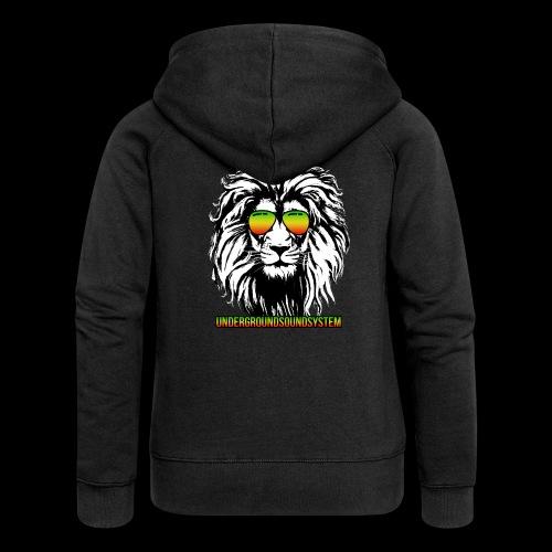 RASTA REGGAE LION - Frauen Premium Kapuzenjacke