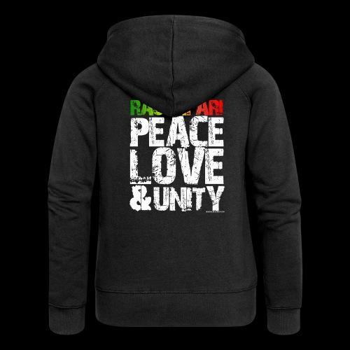 RASTAFARI - PEACE LOVE & UNITY - Frauen Premium Kapuzenjacke