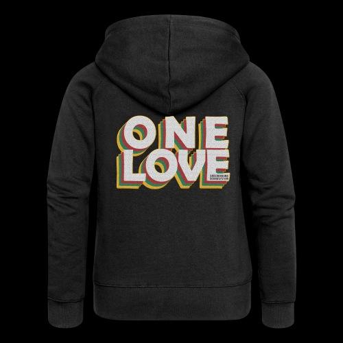 ONE LOVE - Frauen Premium Kapuzenjacke