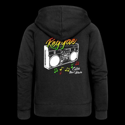 Reggae - Catch the Wave - Frauen Premium Kapuzenjacke