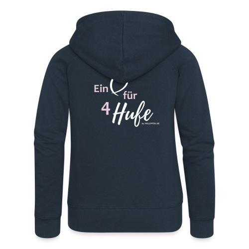 Ein Herz für 4 Hufe_Pfad - Frauen Premium Kapuzenjacke