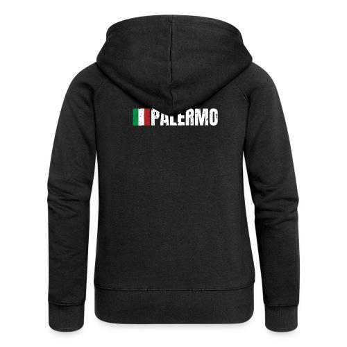 00071 Casa Papel Palermo bandera italia - Chaqueta con capucha premium mujer