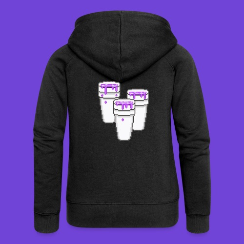Purple - Felpa con zip premium da donna