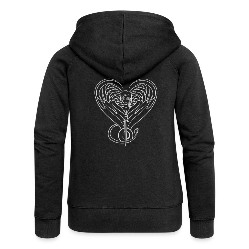 Sphinx valentine white - Women's Premium Hooded Jacket