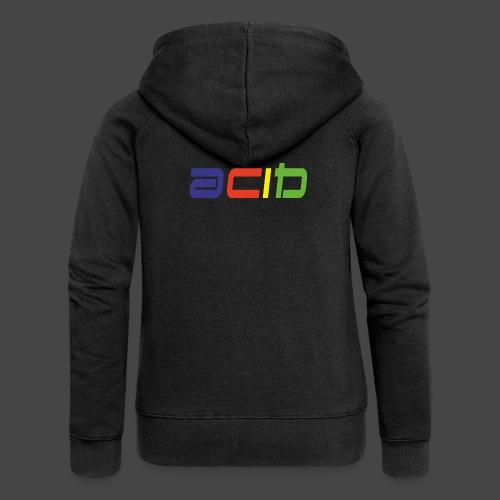 acido - Felpa con zip premium da donna