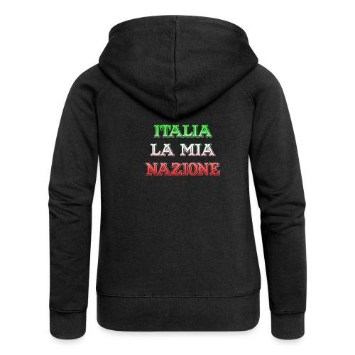ITALIA LA MIA NAZIONE - Felpa con zip premium da donna