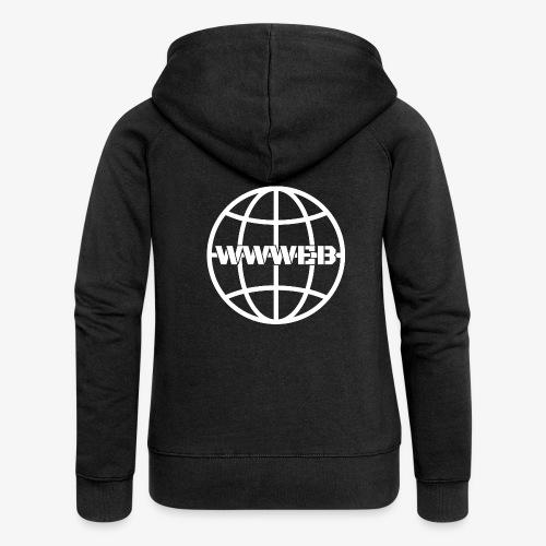 WWWeb (white) - Women's Premium Hooded Jacket