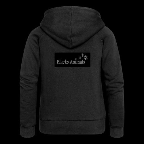 Blacks Animals - Veste à capuche Premium Femme