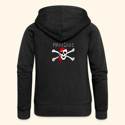 Freiheit Pirat Totenkopf - Frauen Premium Kapuzenjacke