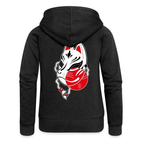 Kitsune - Felpa con zip premium da donna