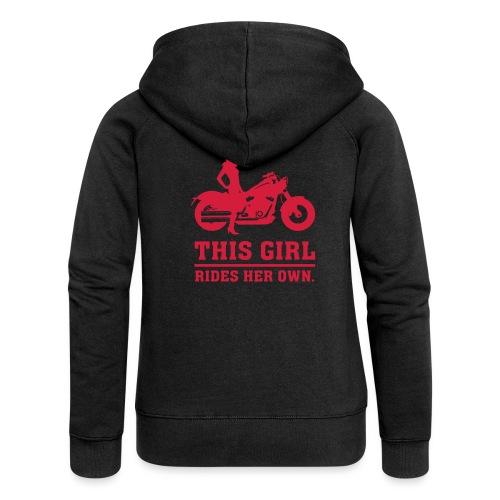 This Girl rides her own - Custom bike - Naisten Girlie svetaritakki premium
