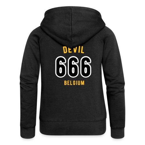 666 devil Belgium - Veste à capuche Premium Femme