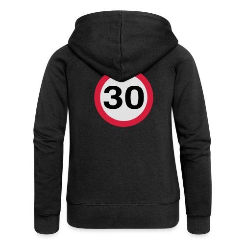 30mph Speed Limit Vector - choose design colours - Women's Premium Hooded Jacket