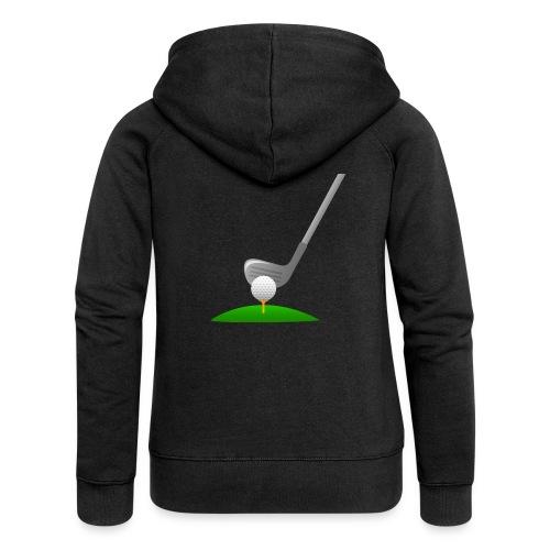 Golf Ball PNG - Chaqueta con capucha premium mujer
