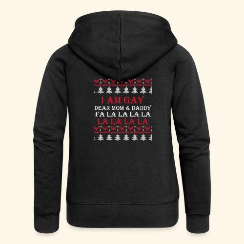 Gay Christmas sweater - Rozpinana bluza damska z kapturem Premium