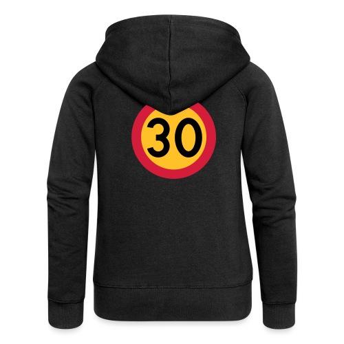 30 kph Road Sign Vector Design - Women's Premium Hooded Jacket