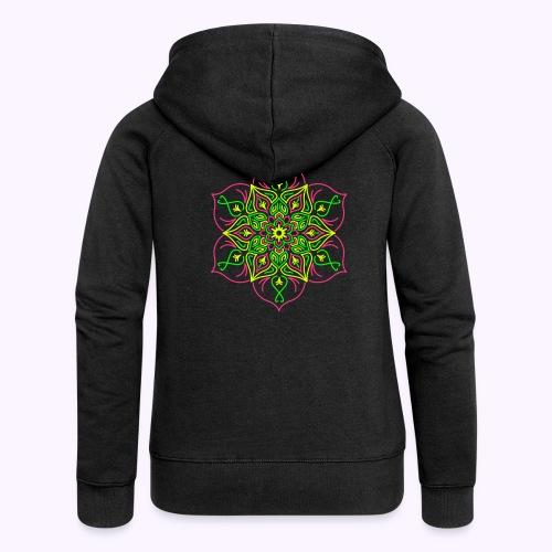 Fire lotus flower - Women's Premium Hooded Jacket
