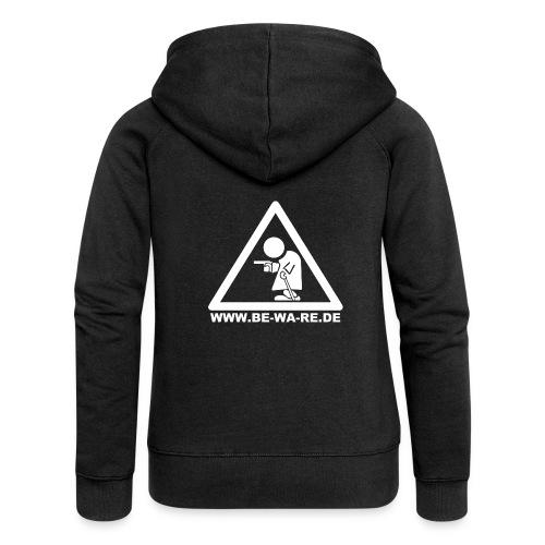 Rentner-Dreieck mit URL in weiß - Frauen Premium Kapuzenjacke