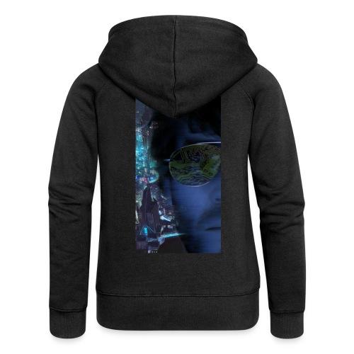 Cyberpunk - Fly verkligheten med en T-shirt - Premium luvjacka dam