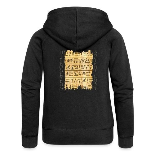 Ausgerissener Papyri mit Hieroglyphen - Frauen Premium Kapuzenjacke