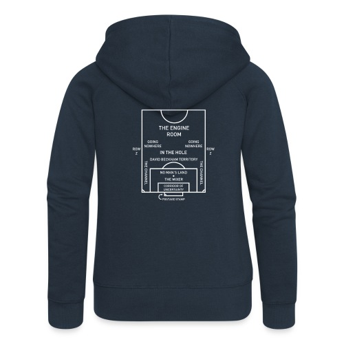 Football Pitch.png - Women's Premium Hooded Jacket