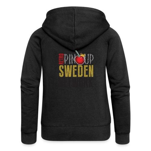 Tanktop Retro Pinup Sweden Crew utsvängd - Premium luvjacka dam