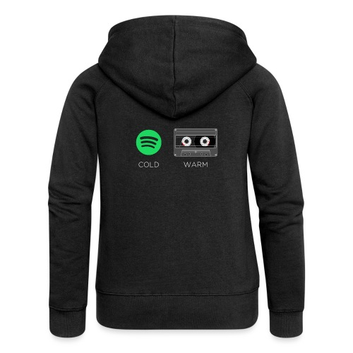 Spotify cold - warm cassette - Women's Premium Hooded Jacket